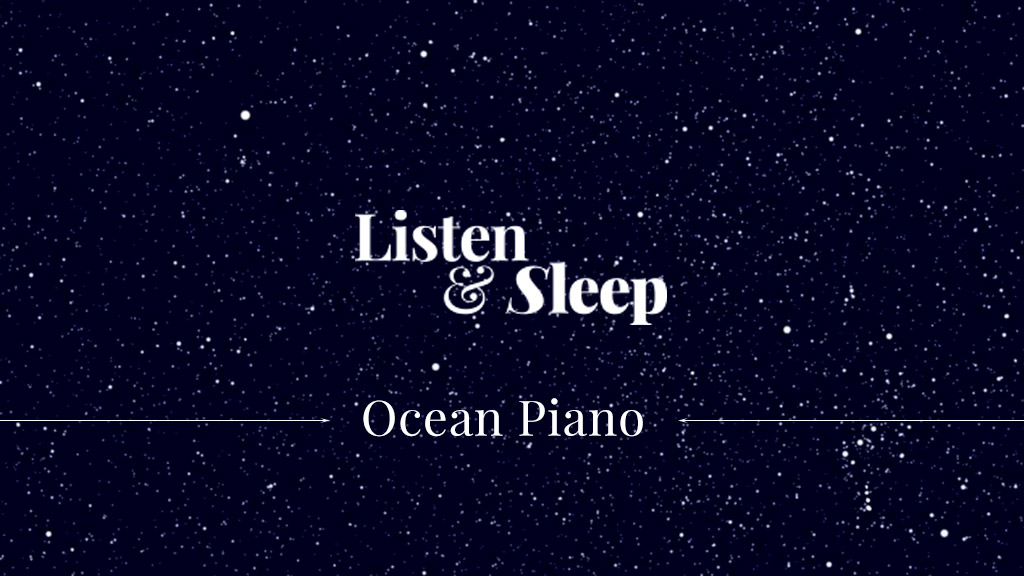 music for meditation, relaxing or undisturbed sleeping ocean sound delicate piano